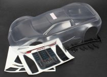 Traxxas Body, XO-1® (clear, requires painting)/ wing/ wing uprights (2)/ washers (2)/ decals