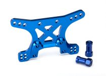 Traxxas  Shock tower, front, 7075-T6 aluminum (blue-anodized)