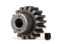 Traxxas Gear, 17-T pinion (1.0 metric pitch) (fits 5mm shaft)/ set screw (compatible with steel spur gears)