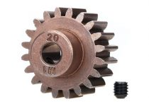 Traxxas Gear, 20-T pinion (1.0 metric pitch) (fits 5mm shaft)/ set screw (compatible with steel spur gears)