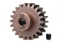Traxxas Gear, 22-T pinion (1.0 metric pitch) (fits 5mm shaft)/ set screw (compatible with steel spur gears)