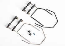 Traxxas Sway bar kit, XO-1® (front and rear) (includes front and rear sway bars and adjustable linkages)