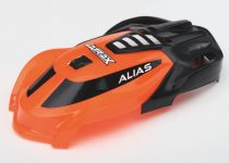 Traxxas Canopy, Alias®, orange/ 1.6x5mm BCS (self-tapping) (3)