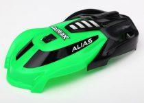Traxxas Canopy, Alias®, green/ 1.6x5mm BCS (self-tapping) (3)