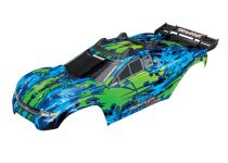 Traxxas Body, Rustler® 4X4 VXL, green/ window, grille, lights decal sheet (assembled with front & rear body mounts and rear body support for clipless mounting)