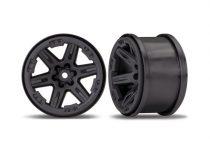"Traxxas Wheels, RXT 2.8"" (black) (2)"