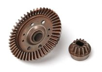 Traxxas Ring gear, differential/ pinion gear, differential (12/47 ratio) (rear)