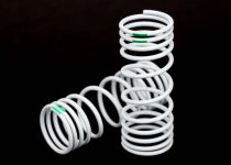 Traxxas Springs, front (progressive, -10% rate, green) (2)