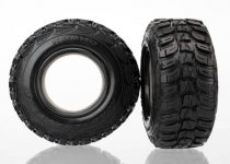 """Traxxas  Tires, Kumho, ultra-soft (S1 off-road racing compound) (dual profile 4.3x1.7- 2.2/3.0"""") (2)/ foam inserts (2)"""