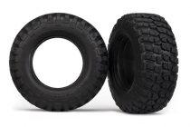 "Traxxas Tires, BFGoodrich® Mud-Terrain T/A® KM2 (dual profile 4.3x1.7- 2.2/3.0"") (2)/ foam inserts (2)"