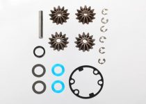 Traxxas Gear set, differential (output gears (2)/ spider gears (2)/ spider gear shaft)/ output gear seals (x-ring) (2)/ diff gasket (1)/ hardware