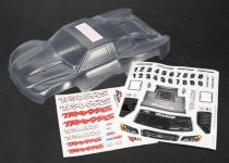 Traxxas Body, 1/16th Slash (clear, requires painting)/ grille, lights decal sheet