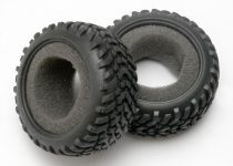 Traxxas Tires, off-road racing, SCT dual profile (1 each, right & left)/ foam inserts (2)