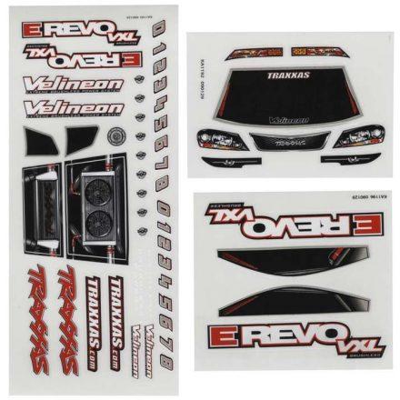 Decal sheets, 1/16 E-Revo VXL