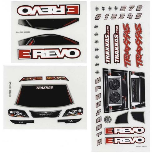 Decal sheets, 1/16 E-Revo