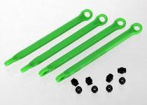 Traxxas Push rod (molded composite) (green) (4)/ hollow balls (8)