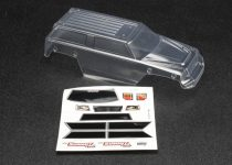 Traxxas  Body, 1/16 Summit (clear, requires painting)/ grille, lights decal sheet