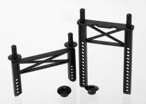 Traxxas Body mounts, front & rear/ body washer, rear (2)