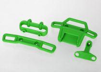 Traxxas  Bumper, front (1), rear (1)/ bumper support, front (1), rear (1) (green)
