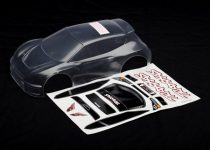Traxxas  Body, Rally (clear, requires painting)/ grille and lights decal sheet