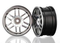 Traxxas  Wheels, Rally (satin chrome) (2)
