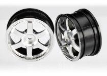 Traxxas Wheels, Volk Racing TE37 (satin chrome/chrome) (2)
