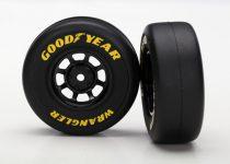 Traxxas Tires and wheels, assembled, glued (8-spoke wheels, black, 1.9 Goodyear Wrangler tires) (2)