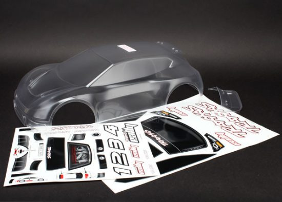 Traxxas Body, 1/10 Rally (clear, requires painting)