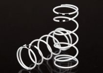 Traxxas Spring, shock, white (GTR long) (0.767 rate black) (1 pair)