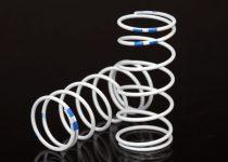 Traxxas Spring, shock, white (GTR long) (0.892 rate blue) (1 pair)