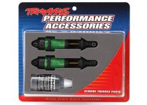 Traxxas Shocks, GTR long green-anodized, PTFE-coated bodies with TiN shafts (fully assembled, without springs) (2)