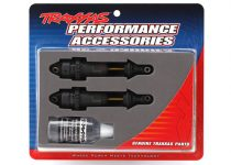 Traxxas Shocks, GTR long hard-anodized, PTFE-coated bodies with TiN shafts (assembled) (2) (without springs)