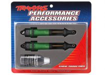 Traxxas Shocks, GTR xx-long green-anodized, PTFE-coated bodies with TiN shafts (fully assembled, without springs) (2)