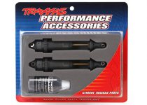 Traxxas Shocks, GTR xx-long hard-anodized, PTFE-coated bodies with TiN shafts (assembled) (2) (without springs)