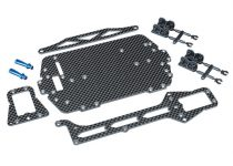 Traxxas Carbon fiber conversion kit (includes chassis, upper chassis, battery hold down, adhesive foam tape, hardware)
