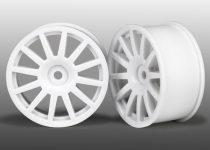 Traxxas Wheels, 12-spoke (white) (2)