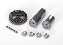 Traxxas  Gear set, differential, metal (output gears (2)/ spider gears (4)/ ring gear, 35T (1)/ 2x14.8mm pin (1))