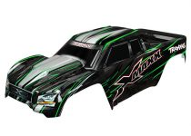 Traxxas Body, X-Maxx®, green (painted, decals applied) (assembled with front & rear body mounts, rear body support, and tailgate protector)
