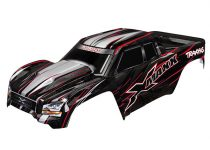 Traxxas Body, X-Maxx®, red (painted, decals applied) (assembled with front & rear body mounts, rear body support, and tailgate protector)
