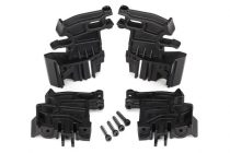 Traxxas  Battery hold-down mounts, left (2)/ right (2)/ 3x18mm CS (4)