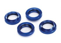 Traxxas  Spring retainer (adjuster), blue-anodized aluminum, GTX shocks (4) (assembled with o-ring)