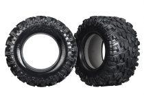 Traxxas  Tires, Maxx® AT (left & right) (2)/ foam inserts (2)