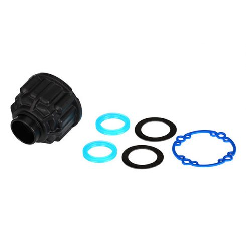 Traxxas  Carrier, differential/ x-ring gaskets (2)/ ring gear gasket/ 6x10x0.5 TW