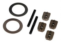 Traxxas Spider gear shaft (2)/ spacers (4)/16x23.5x.5 stainless washer (2) (for #7781X aluminum differential carrier)