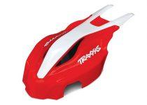 Traxxas   Canopy, front, red/white, Aton®