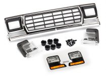 Traxxas Grille, Ford Bronco/ grille retainers (6)/ headlight housing (2)/ lens (2)/ 2.6x8 BCS (6)/ 2.5x6 BCS (2) (fits #8010 body)