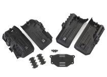 Traxxas  Fenders, inner, front & rear (2 each)/ rock light covers (8)/ battery plate/ 3x8 flat-head screws (4)