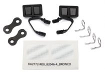 Traxxas Mirrors, side, black (left & right)/ retainers (2)/ body clips (4) (fits #8010 body)