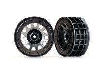 "Traxxas  Wheels, Method 105 2.2"" (black chrome, beadlock) (beadlock rings sold separately)"