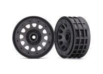 "Traxxas Wheels, Method 105 2.2"" (charcoal gray, beadlock) (beadlock rings sold separately)"